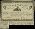 Confederate Notes:Group Lots, Ball 45 Cr. 117 $50 1861 Bond Very Fine. Five coupons remain onthis bond....