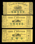 Obsoletes By State:Louisiana, New Orleans, LA- Cook & Brother $2 March 15, 1862 & $3 January 1, 1862. This group contains a $2 note with green overstamp a... (Total: 3 notes)