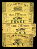 Obsoletes By State:Louisiana, New Orleans, LA- Cook & Brother $1 Dec. 28, 1861 and March 15, 1862, $3 Jan. 1, 1862 & $3 March 15, 1862 UNL. This group lot... (Total: 4 notes)