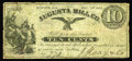 Obsoletes By State:Michigan, Augusta, MI- Augusta Mill Co. 10¢ Dec. 24 1862 Bowen 2. An excessively rare piece of Michigan scrip from an issuer we've had...