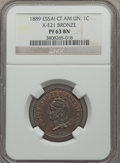 Central American Union, Central American Union: Confederation Certified Proof 1 & 2 Centavos 1889,... (Total: 2 coins)