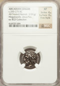 Ancients:Greek, Ancients: ARCADIAN LEAGUE. Megalopolis. Ca. 330-275 BC. AR triobolor hemidrachm (2.81 gm). ...