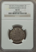 Colombia, Colombia: Cundinamarca 2 Reales 1821 Ba-JF AU55 NGC,...