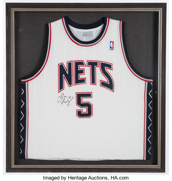detailed look c67a3 5c798 Jason Kidd Signed New Jersey Nets Jersey.... Basketball ...
