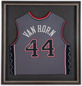 Basketball Collectibles:Uniforms, Keith Van Horn Signed New Jersey Nets Jersey....