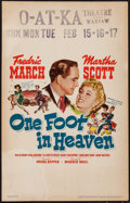 "Movie Posters:Drama, One Foot in Heaven (Warner Brothers, 1941). Window Card (14"" X22""). Drama.. ..."