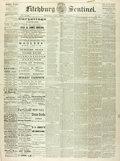 """Miscellaneous:Newspaper, [Mark Twain]. Newspaper: Fitchburg Weekly Sentinel. Fourpages, 19.75"""" x 26.25"""", Fitchburg [Massachusetts], Octo..."""