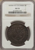 Colombia, Colombia: Republic 8 Reales 1835 Ba-RS AU55 NGC,...