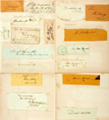 Autographs:Statesmen, Collection of Seventeen Nineteenth Century Signatures includingJohn Sergeant, Daniel Webster, W.R. Smith, The...