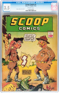 Golden Age (1938-1955):Superhero, Scoop Comics #1 (Chesler, 1941) CGC VG- 3.5 Off-white pages....