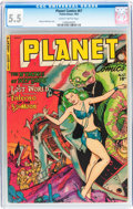 Golden Age (1938-1955):Science Fiction, Planet Comics #67 (Fiction House, 1952) CGC FN- 5.5 Slightlybrittle pages....