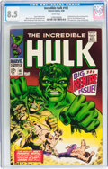 Silver Age (1956-1969):Superhero, The Incredible Hulk #102 (Marvel, 1968) CGC VF+ 8.5 White pages....