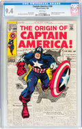 Silver Age (1956-1969):Superhero, Captain America #109 (Marvel, 1969) CGC NM 9.4 White pages....