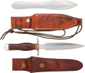 Edged Weapons:Knives, Lot of Two Randall Knives and H.H.Heiser Scabbard.... (Total: 2 Items)