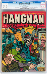 Hangman Comics #3 (MLJ, 1942) CGC VG- 3.5 Off-white to white pages