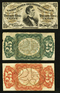 Fractional Currency:Third Issue, Fr. 1294SP 25¢ Third Issue Narrow Margin Specimen Set of Three.. ... (Total: 3 notes)