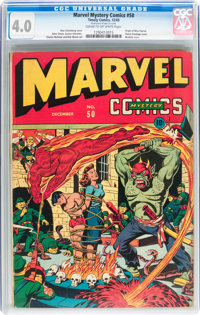Marvel Mystery Comics #50 (Timely, 1943) CGC VG 4.0 Cream to off-white pages