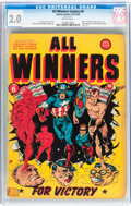Golden Age (1938-1955):Superhero, All Winners Comics #6 (Timely, 1942) CGC GD 2.0 Brittle pages....