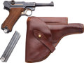 Handguns:Semiautomatic Pistol, Swedish Mauser 42 Dated Commercial Luger Semi-Automatic Pistol with Leather Holster....