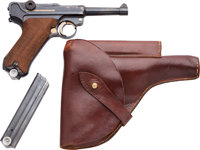 Swedish Mauser 42 Dated Commercial Luger Semi-Automatic Pistol with Leather Holster