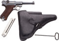 Handguns:Semiautomatic Pistol, German Simson & Co. Luger Semi-Automatic Pistol with PoliceHolster....