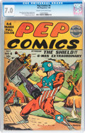 Golden Age (1938-1955):Superhero, Pep Comics #6 (MLJ, 1940) CGC FN/VF 7.0 Cream to off-white pages....