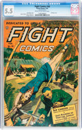 Golden Age (1938-1955):War, Fight Comics #30 (Fiction House, 1944) CGC FN- 5.5 Cream to off-white pages....
