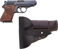 Handguns:Semiautomatic Pistol, Walther PPK Semi-Automatic Pistol with Rare K Series SS Contract Markings with Leather Holster....