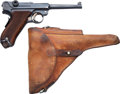 Handguns:Semiautomatic Pistol, Swiss Waffenfabrik Bern Luger Semi-Automatic Pistol with Leather Holster....