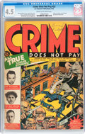 Golden Age (1938-1955):Crime, Crime Does Not Pay #23 (Lev Gleason, 1942) CGC VG+ 4.5 Cream to off-white pages....