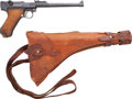 Handguns:Semiautomatic Pistol, 1917 Dated DWM Artillery Luger Pistol with Holster and Stock....