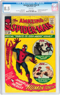 Silver Age (1956-1969):Superhero, The Amazing Spider-Man #8 (Marvel, 1964) CGC VF+ 8.5 White pages....