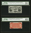 Fractional Currency:Third Issue, Fr. 1272SP/1276SP 15¢ Third Issue PCGS About Uncirculated 55 EPQ Choice Uncirculated 63 EPQ Narrow Margin Face/Back Specimen P... (Total: 2 notes)