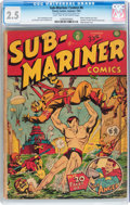 Golden Age (1938-1955):Superhero, Sub-Mariner Comics #6 (Timely, 1942) CGC GD+ 2.5 Light tan to off-white pages....