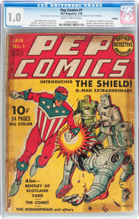Pep Comics #1 (MLJ, 1940) CGC FR 1.0 Slightly brittle pages