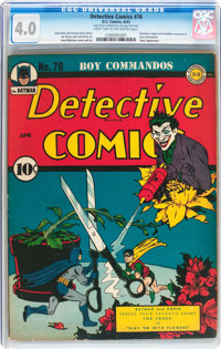 Detective Comics #76 (DC, 1943) CGC VG 4.0 Light tan to off-white pages