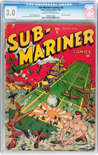 Sub-Mariner Comics #8 (Timely, 1942) CGC GD/VG 3.0 Cream to off-white pages