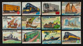 Non-Sport Cards:Sets, 1955 Topps Rails And Sails Partial Set (121/200). ...