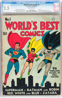 World's Best Comics #1 (DC, 1941) CGC GD+ 2.5 Off-white pages