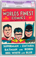 Golden Age (1938-1955):Superhero, World's Finest Comics #2 (DC, 1941) CGC Apparent FN 6.0 Slight (C-1) Cream to off-white pages....