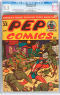 Golden Age (1938-1955):Humor, Pep Comics #35 (MLJ, 1943) CGC FN- 5.5 Light tan to off-white pages....