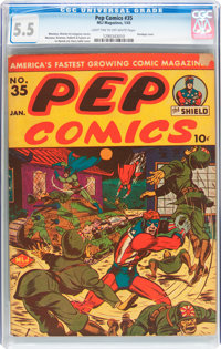 Pep Comics #35 (MLJ, 1943) CGC FN- 5.5 Light tan to off-white pages