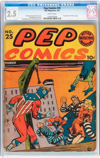 Pep Comics #25 (MLJ, 1942) CGC GD+ 2.5 Brittle pages
