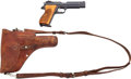 Handguns:Semiautomatic Pistol, Swiss Army Sig Arms AG P210 Semi-Automatic Pistol with Leather Holster....