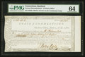 Colonial Notes:Connecticut, Connecticut Treasury Certificate £26 18s 6d June 1, 1780 AndersonCT-18 PMG Choice Uncirculated 64.. ...