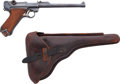 Handguns:Semiautomatic Pistol, DWM 1917 Dated Artillery Luger Semi-Automatic Pistol with LeatherHolster....