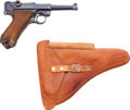 Handguns:Semiautomatic Pistol, DWM Luger Semi-Automatic Pistol with Leather Holster....