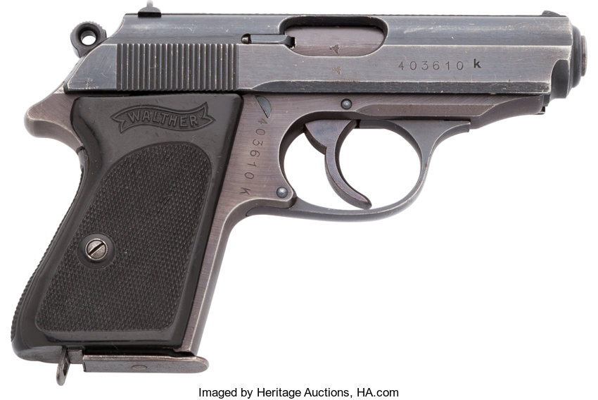 Walther PPK Semi-Automatic Pistol with 359 Acceptance Stamps ...