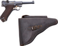 Handguns:Semiautomatic Pistol, Scarce German DWM Model P08 1920 Luger Semi-Automatic Pistol with Naval Marked Holster....