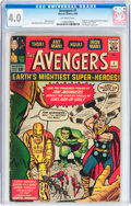 Silver Age (1956-1969):Superhero, The Avengers #1 (Marvel, 1963) CGC VG 4.0 Off-white pages....